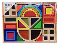 GOKI  Радужные строительные блоки с окнами (58620)