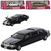 "Машинка KT 7001 W ""Kinsmart. 1999 Lincoln Town Car Stretch Limousine"", 17 см (Y)"