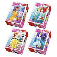 Пазлы 54145 (240шт.) Trefl, Disney,Принцессы,мини,в кор,9-3,5-6,5см,54д,40шт.(4вид)в диспл,33-19-15см