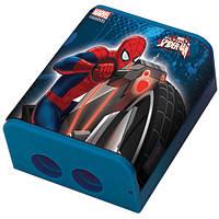 """Точилка двойная цветная с контейнером """"Человек-паук"""""""