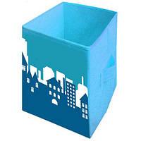 """Ящик для игрушек 2525-006 """"Пейзаж"""", 25х25х38 см (Y)"""
