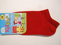 Летние низкие детские носки красного цвета 20см(30-32р)