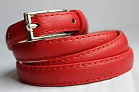 Узкий красный женский пояс