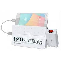 Проекционные часы Bresser MyTime Pro white