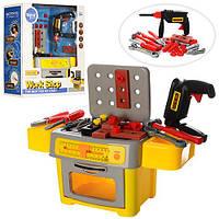 Набор инструментов TP302 (6шт.) дрель,молоток,плоскогубцы,отверт,муз,св,на батарейках,в коробке48-22-52cм