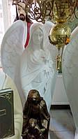 Скульптура Ангела с лилиями 165 см бетон