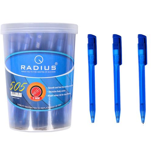 """Ручка 505 """"Radius"""", синий, 50 шт. в упаковке (Y)"""