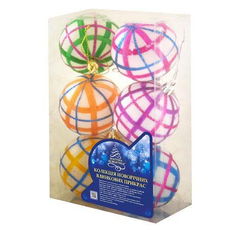 Ёлочные шарики  8470, 6 шт. (Y) , фото 2