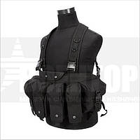 Разгрузка Tactical 4 Pouches Chest Rig Vest Black