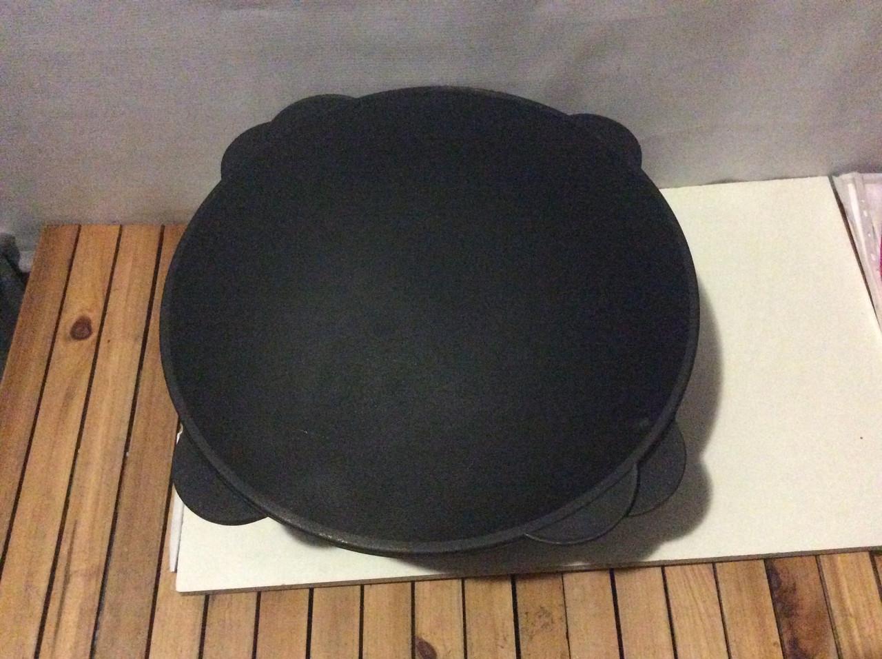 Казан чугунный толстостенный 13 литров с крышкой гриль