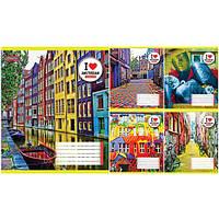 """Тетрадь 96 листов/линия 1 Вересня 678995 """"Amsterdam"""", 5 шт. в упаковке (Y)"""