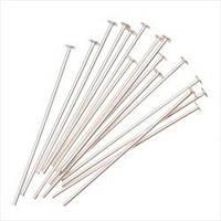 Фурнитура  Пины-гвозди для бижутерии, цвет серебро,длина 22мм (10000 шт)