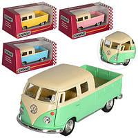 """Машинка KT5387WY """"Kinsmart. 1963 Volkswagen Bus Double Cab Pickup"""", 13 см (Y)"""