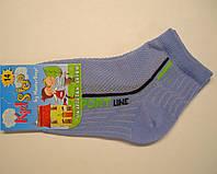 Носки в сетку хлопковые на мальчика голубого цвета, фото 1