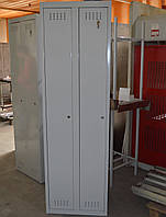 Шкаф одёжный металлический двухсекционный для раздевалок