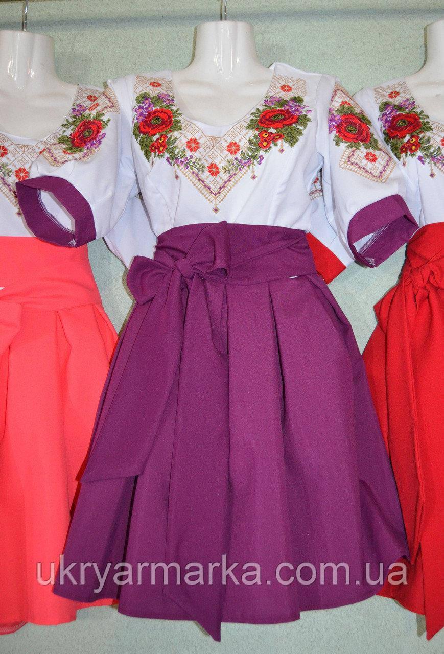 "Сучасна вишивка плаття, ""Свято"" фіолетове"