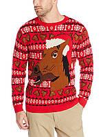 Свитшот Alex Stevens Happy Holidays Horse Ugly Christmas, Red