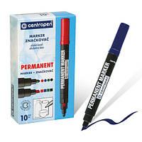 Маркер Centropen 8576/1blue, синий, 10 шт. в упаковке (Y)