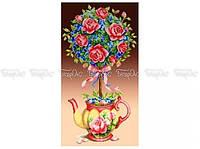 Схема вишивки бисером «Топиарий з трояндами» (30x60)
