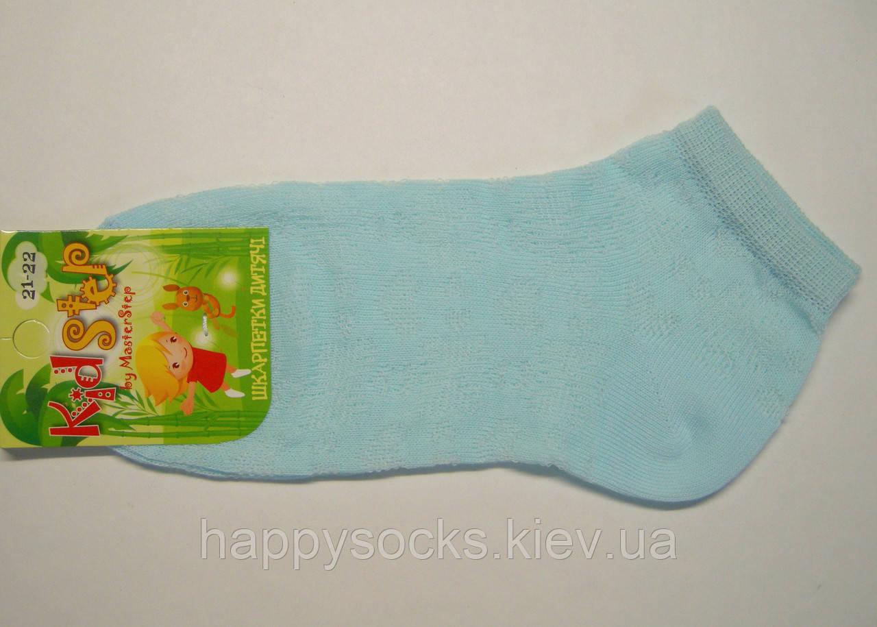 Летние тонкие носки в сетку светло-голубого цвета для девочек, фото 1