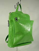 Сумка-рюкзак Valensiy 88118 зеленый, 26*22*11 см