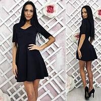 Маленькое коктейльное чёрное платье P6154