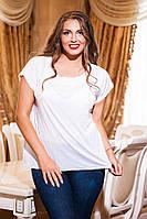 Женская стильная летняя футболка варка. Размеры: M(46-48),L(48-50),XL(50-52),XXL(52-54)