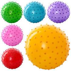 Мяч массажный MS 0022  4 дюйма, ПВХ, 25г, 6 цветов