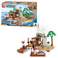 Конструктор SLUBAN M38-B0278 (36шт.) пираты, фигурки 3шт., крепость,142 дет, в коробке 28,5-21,5-5,5см.