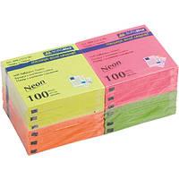 """Бумага для заметок BM.2312-98 """"Buromax Neon"""", 100 листов, 12 шт. в упаковке (Y)"""