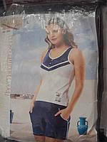 Пижама женская майка с шортами.