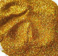Глиттер цвет Золото Голографический