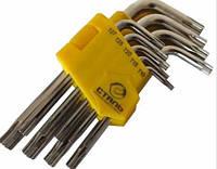 Набор Г-образных ключей TORX Сталь 48104 (Т10, Т15, Т20, Т25, Т27, Т30, Т40, Т45, Т50) 9шт (44533)