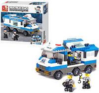Конструктор SLUBAN M38-B0188 (32шт.) полиция, машина, фигурки 3шт.,  253 дет, в коробке 28,5-28,5-5см.