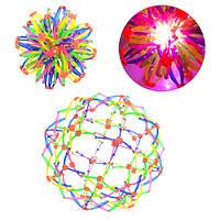 Мяч M 5391 (144шт) трансформер, свет, в кульке, 15-15-15см