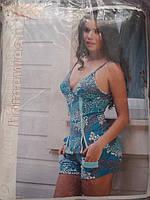 Яркий женский домашний летний костюм.