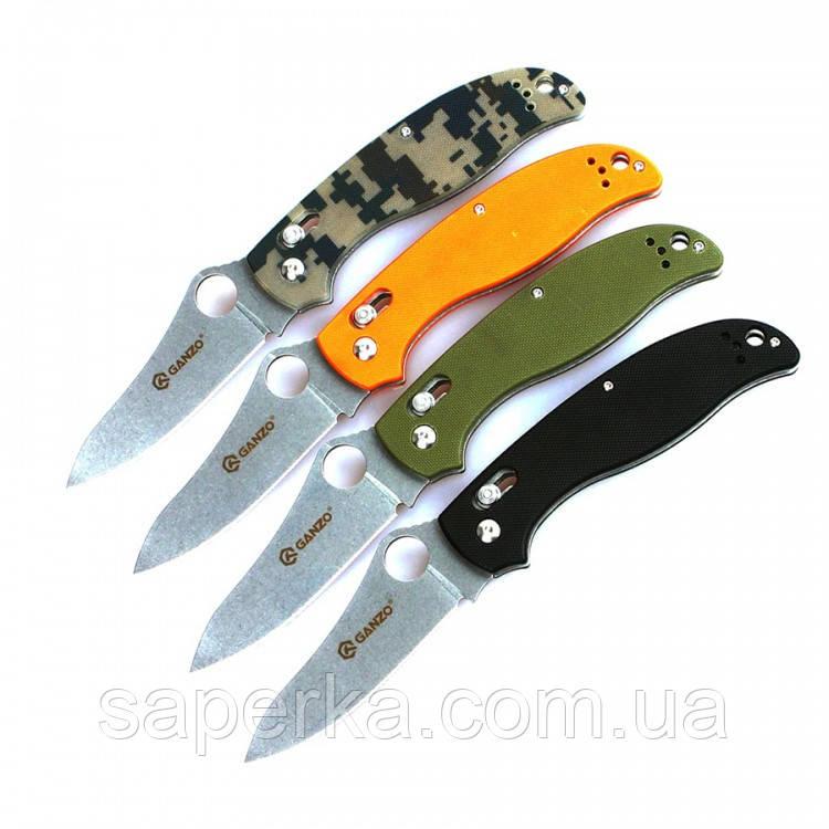Нож многофункциональный Ganzo (черный, зеленый, оранжевый, камуфляж) G733-BK