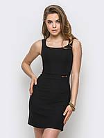 Красивое аккуратное женское платье из стрейч-джинса 90238