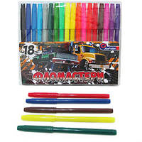 "Фломастеры 828-18G ""Машины монстры"", 18 цветов (Y)"