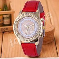 Женские часы Cristal со стразами Red