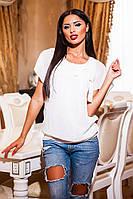Женская стильная летняя блузка шифон бант. Размеры:42-44,46-48,50-52, фото 1