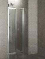 EGER 599-163-80 Дверь в нишу Bifold (складная) 80см хром прозрачная