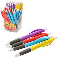 Ручка 358 (2400шт.) автоматическая, синий, микс цветов, 50шт. в дисплее, 9-17-11см