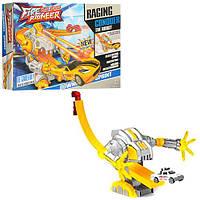 Трек WZ010-11 (48шт.) робот,126-18-14см,машинка-металл,7см,в коробке 36,5-23-6,5см