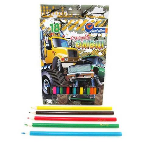 "Карандаши J.Otten 7303-18B ""Машины монстры"", 18 цветов (Y), фото 2"