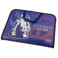 """Папка-портфель на молнии с тканевыми ручками """"Star wars"""""""