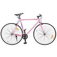 """Шоссейный трековый велосипед Profi 28"""" G56JOLLY S700C-4, розовый"""