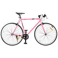 """Шоссейный трековый велосипед Profi 28"""" G56JOLLY S700C-4H, розовый"""