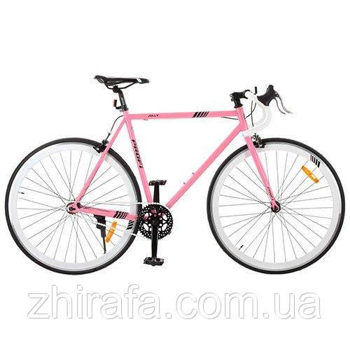 """Шоссейный трековый велосипед Profi 28"""" G56JOLLY S700C-4H, розовый - Интернет-магазин детских товаров """"Жирафа"""" в Одессе"""