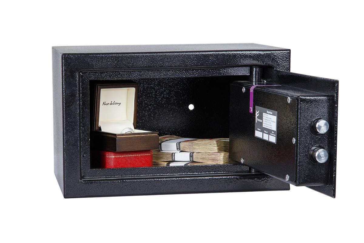 Сейф ЕС-20К.9005 (ШхВхГ: 320х200х260 мм.) для офиса и дома